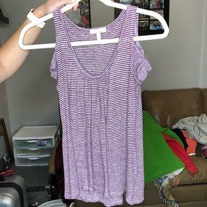 Purple stripped shirt